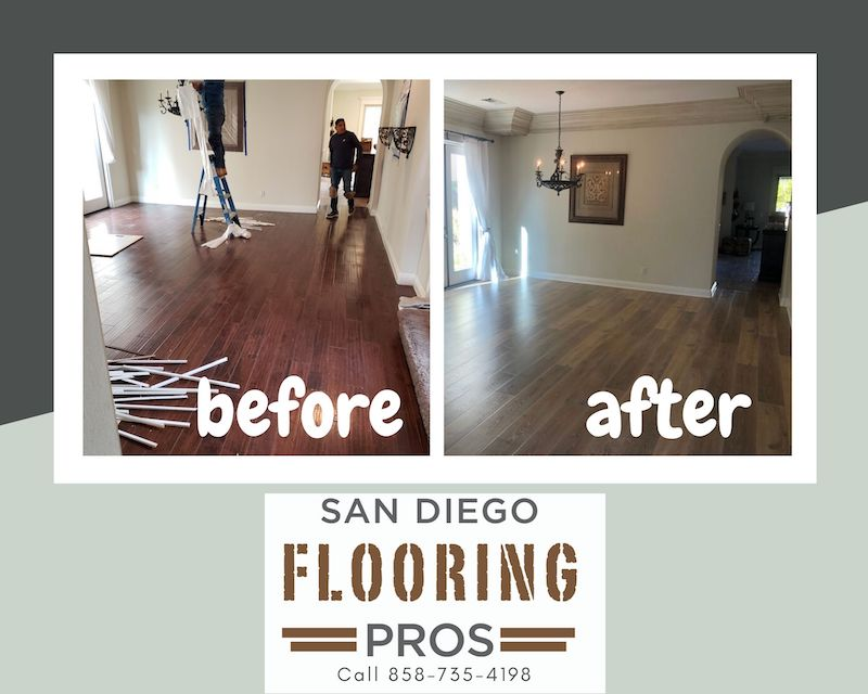 Carmel Valley Flooring Before and After Pic