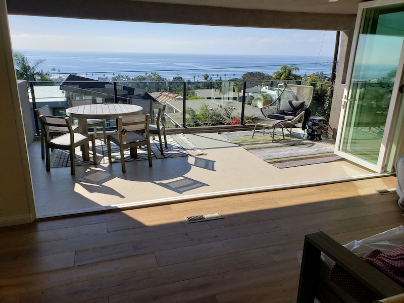 living room flooring with ocean beach view San Diego After Photo
