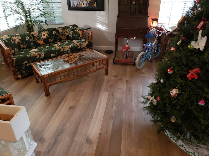living room Laminate flooring after photo