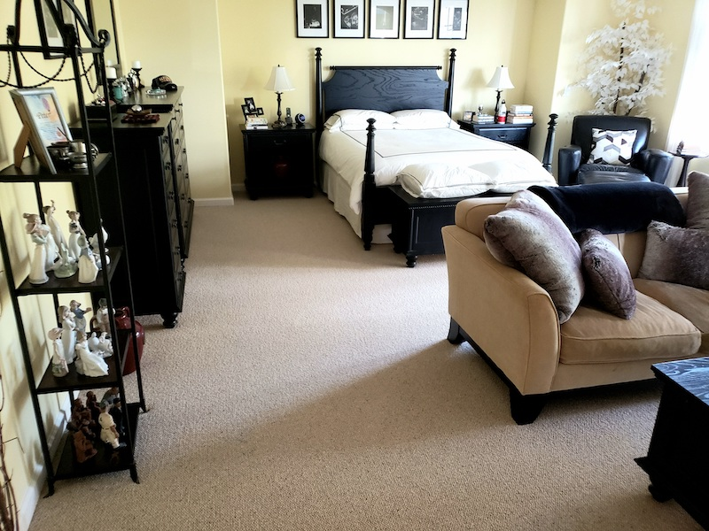 wool carpet in master bedroom