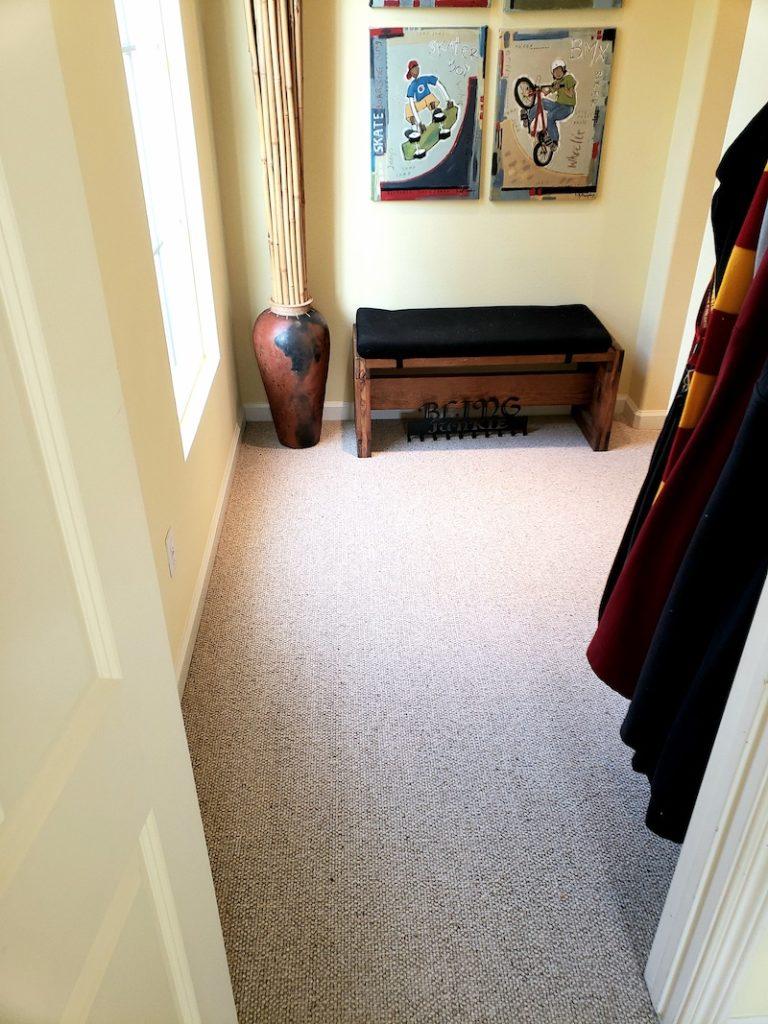 wool carpet room in san diego
