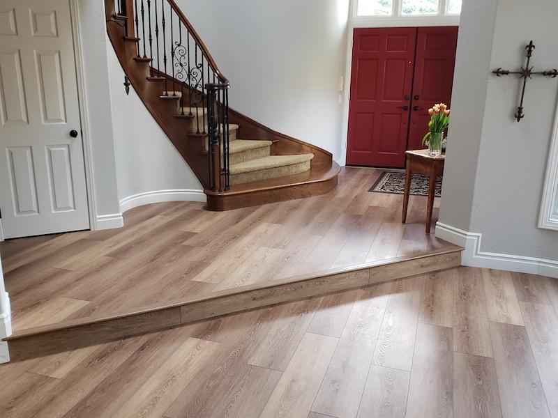 Vinyl Plank Flooring entry after