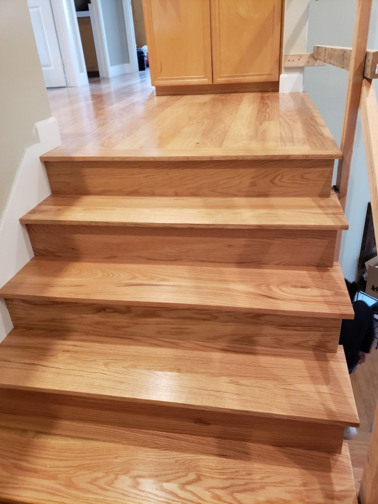 New solid stair treads and risers