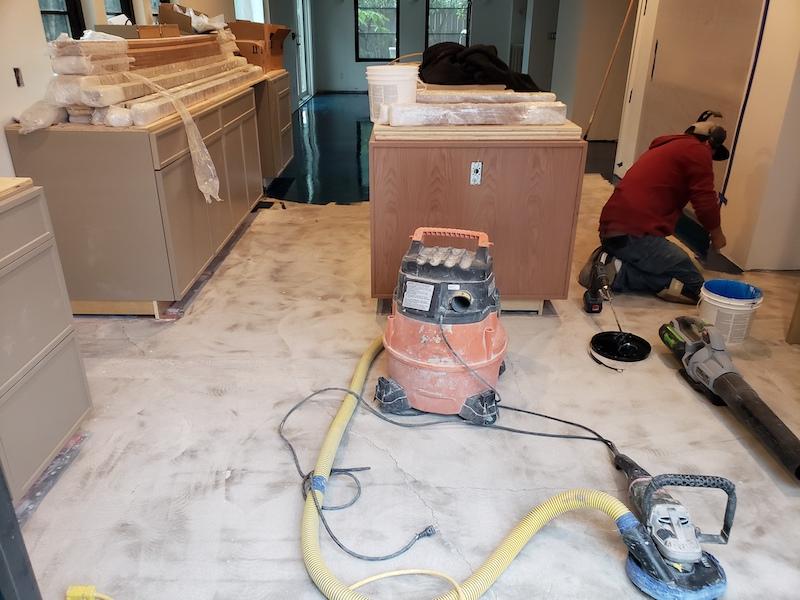 Kitchen floor prep
