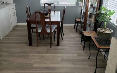 Dining room vinyl plank