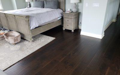 bedroom dark hardwood floors