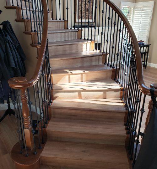 waterproof vinyl plank floor stairs